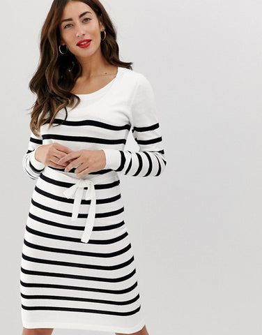 Mamalicious nursing stripe knitted dress