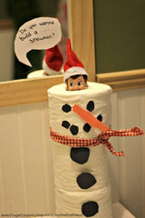 Elf on the Shelf Snowman Building