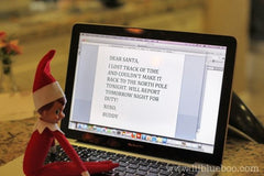 Elf on the Shelf emailing Santa