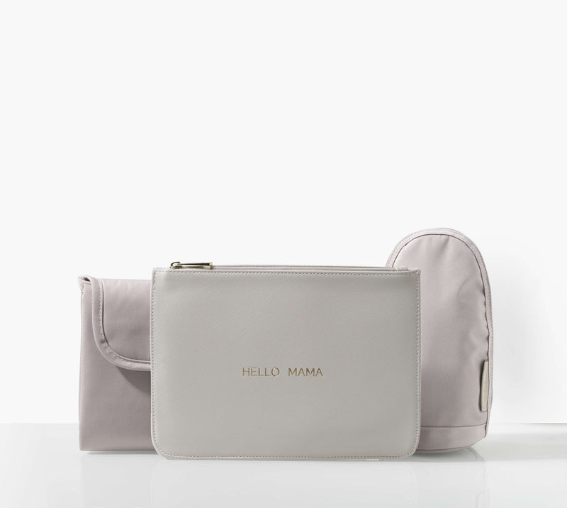 The Rosie Grey Pebble Baby Changing Bag