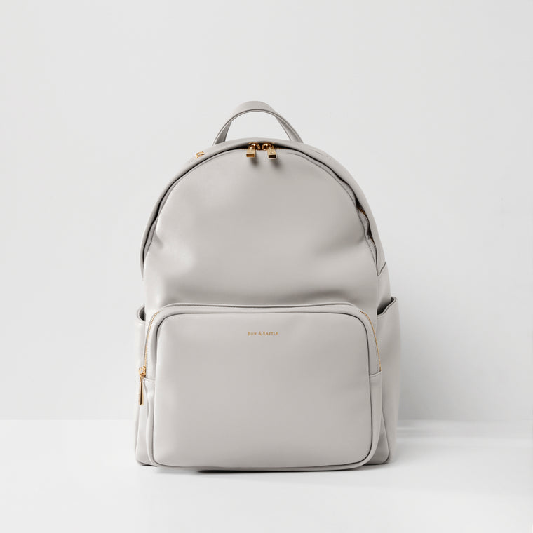 The Jenny Baby Changing Backpack - light grey