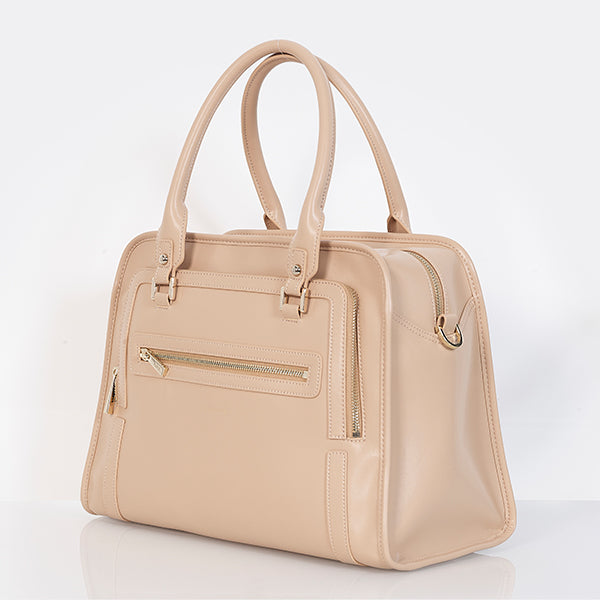 Tan diaper bag