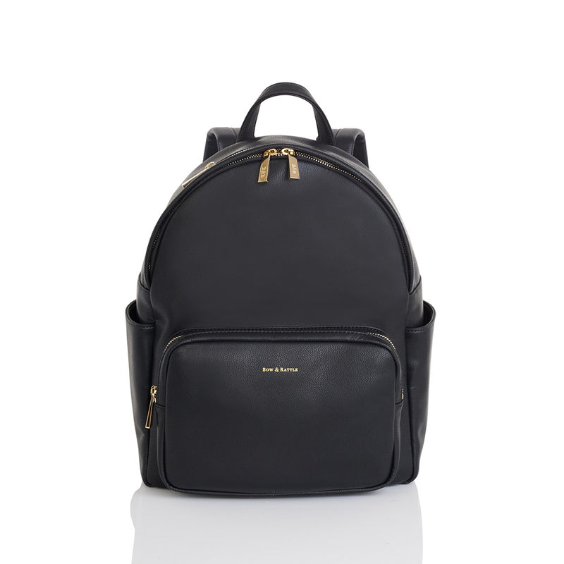 The Jenny Black mid sized Baby Changing Backpack