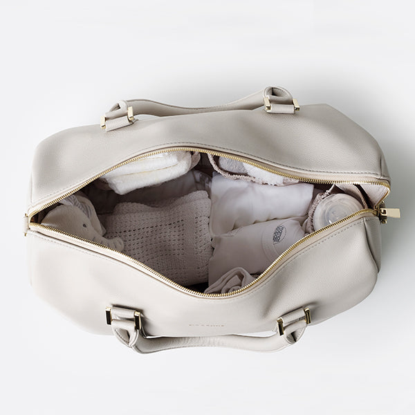 Heather light grey Baby Changing Bag
