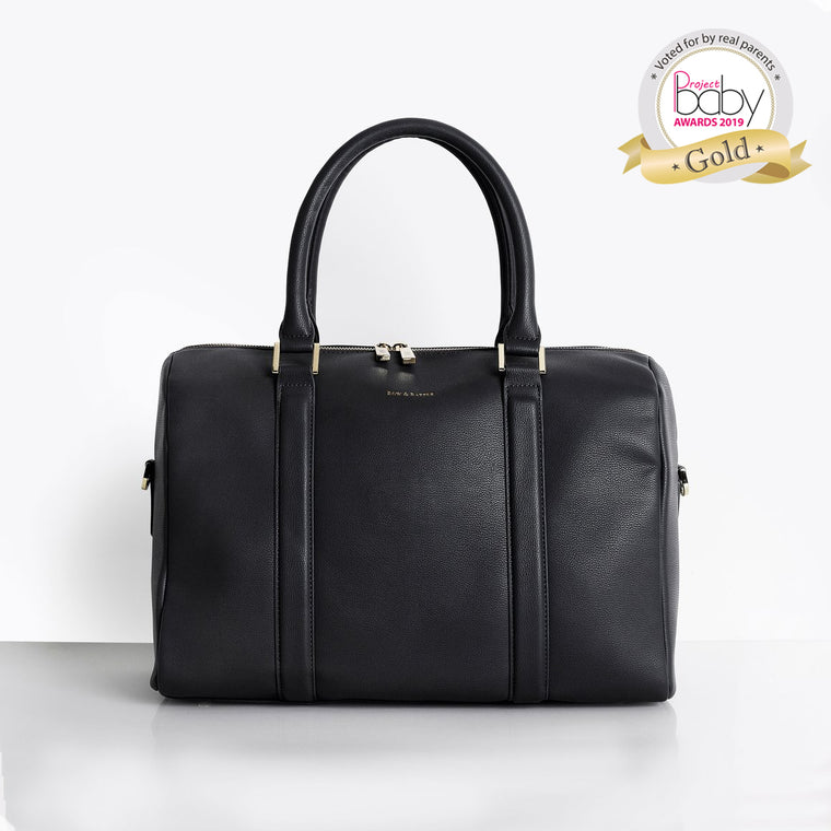 Heather Black Baby Changing Bag