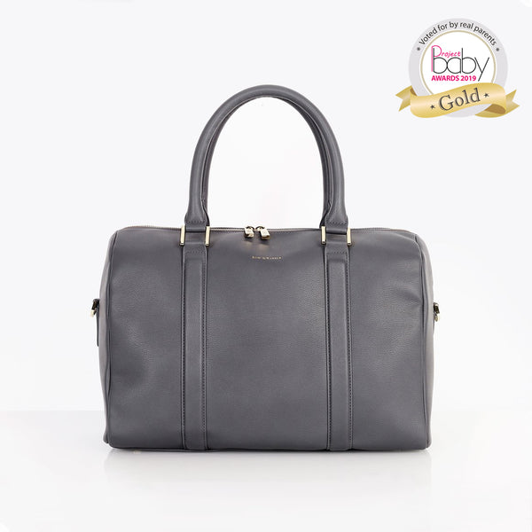 Heather Slate Grey Baby Changing Bag
