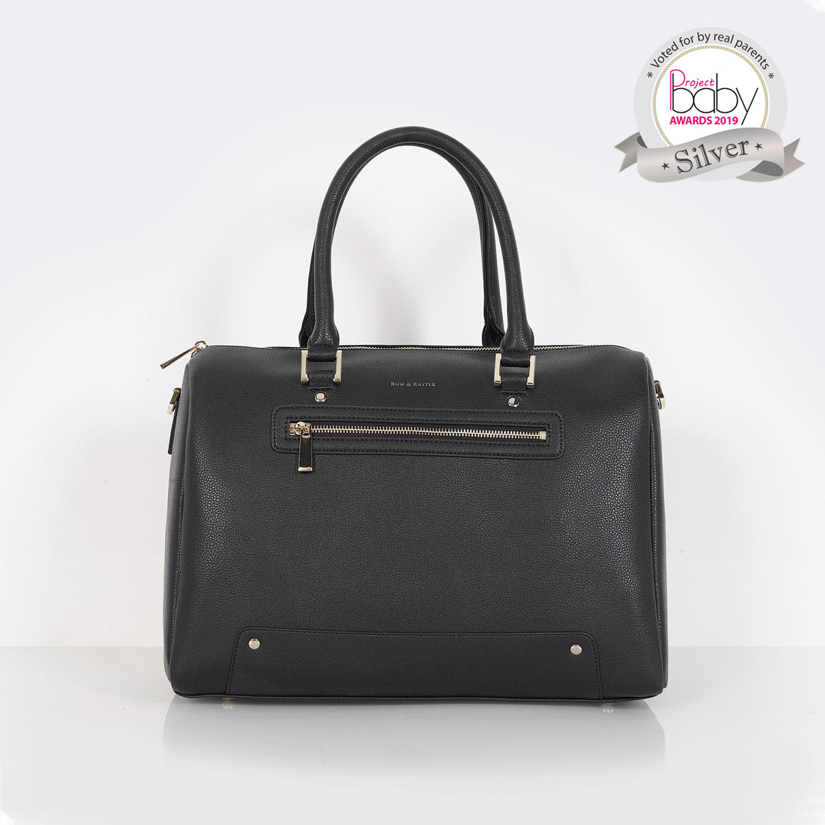 The Rosie black pebble changing bag