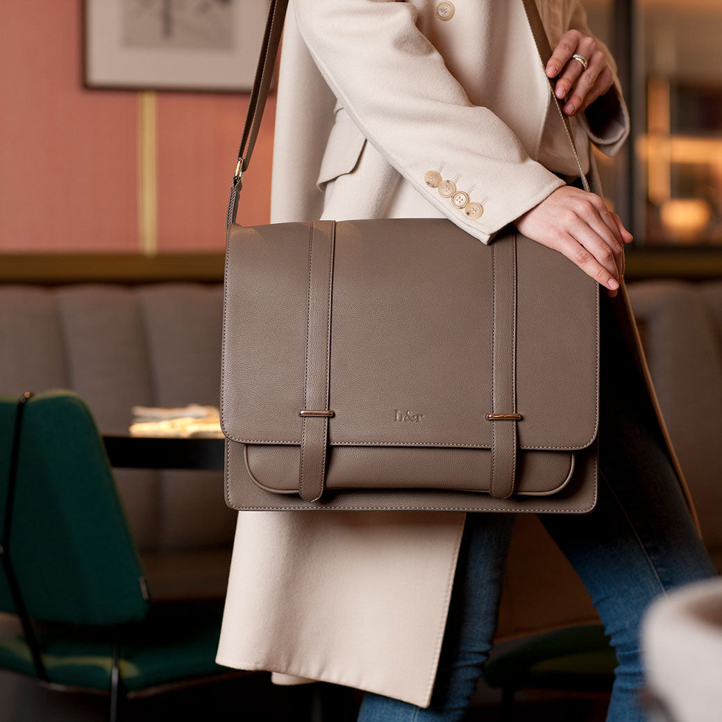 The Trenier Baby Changing Bag (Unisex) - Mink Brown
