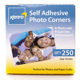 Kenro Sticky Photo Picture Mounting Corners Pack of 250 Acid Free - PC101 - Crooked Imaging