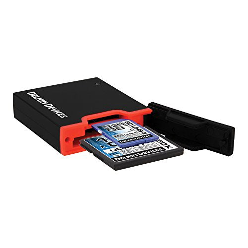 Delkin USB 3.0 Dual Slot SD UHS-II & CF Memory Reader DDREADER-44 - Crooked Imaging