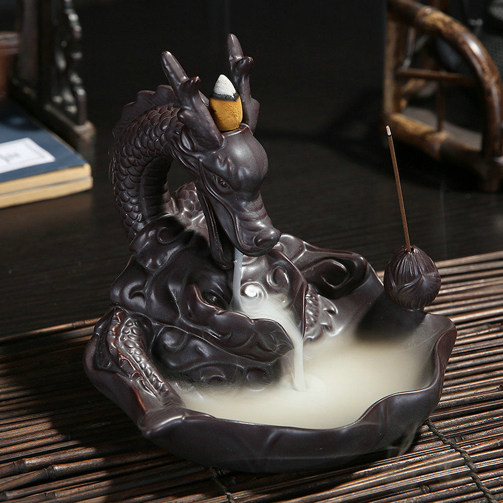 Dragon Incense Burner with 10 Cones