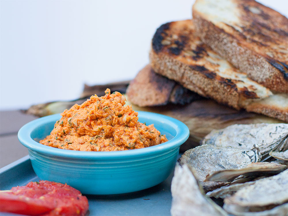 Grilled Oysters with Hot Sauce Butter