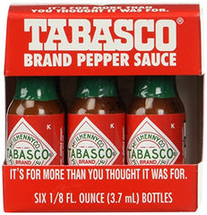 "Amazon.com : TABASCO brand Pepper Sauce""6-pack Miniatures"" 1/8oz. : Hot Sauces : Grocery & Gourmet Food"
