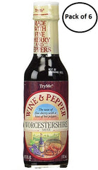 TryMe Wine & Pepper Worcestershire Sauce 5oz (Pack of 6)