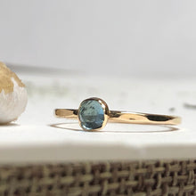 Grace - Swiss Blue Topaz Stacking Ring