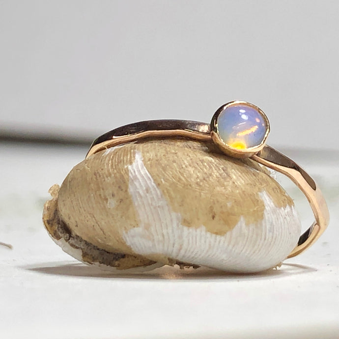 Ella - Opal Stacking Ring in Silver or Gold