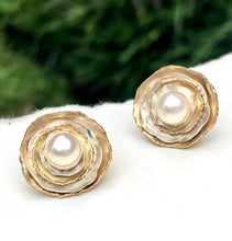 Pearl Bridal Ear Jacket Earrings