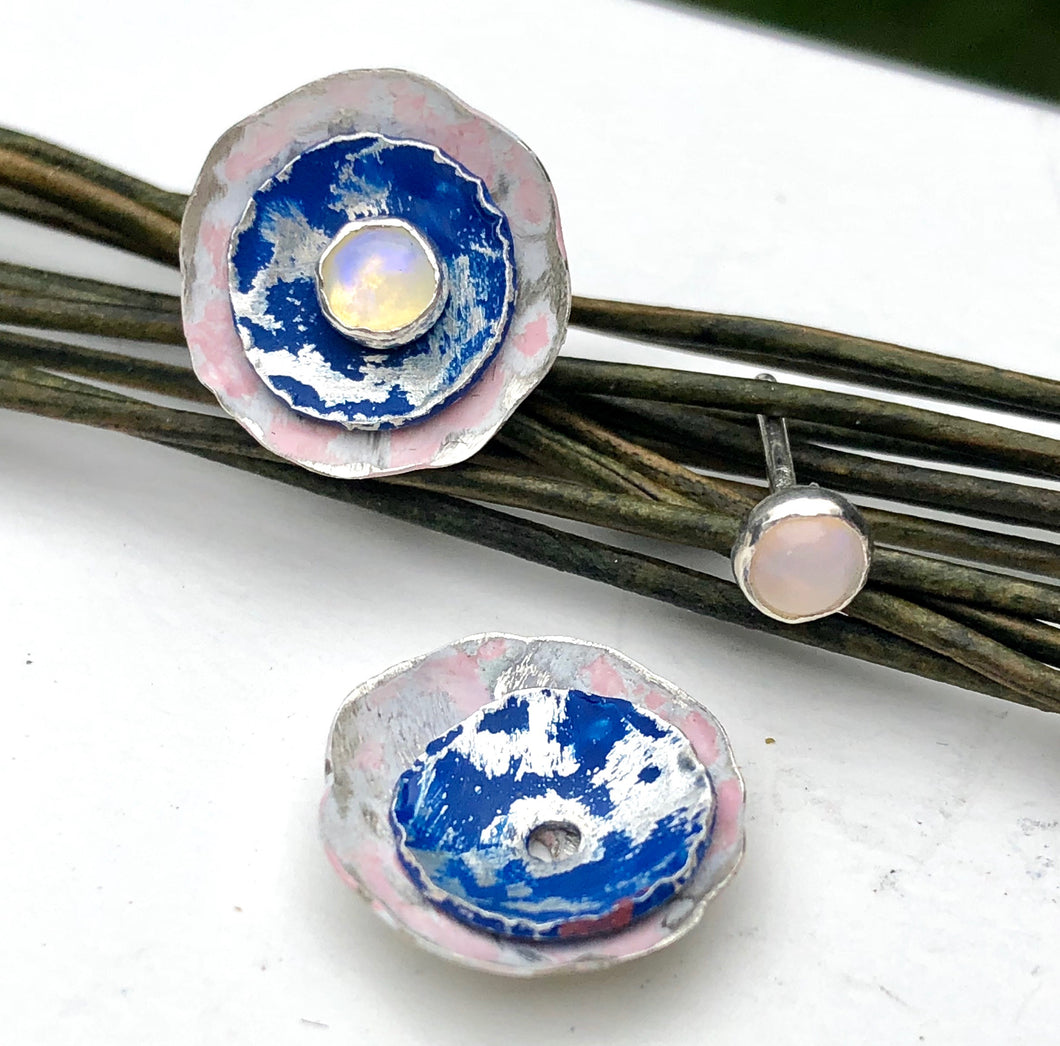 Colorful Painted Sterling Ear Jackets