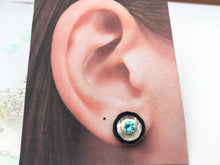 Aquamarine Stud Earrings with Ear Jackets