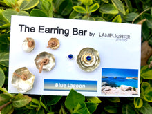 Blue Lagoon Earrings - Boulder Opal Stud Earrings and Ear Jackets