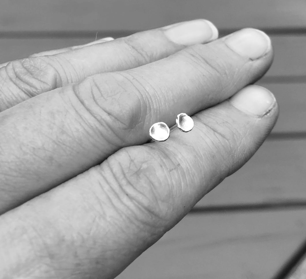 Tiny Silver Stud Earring