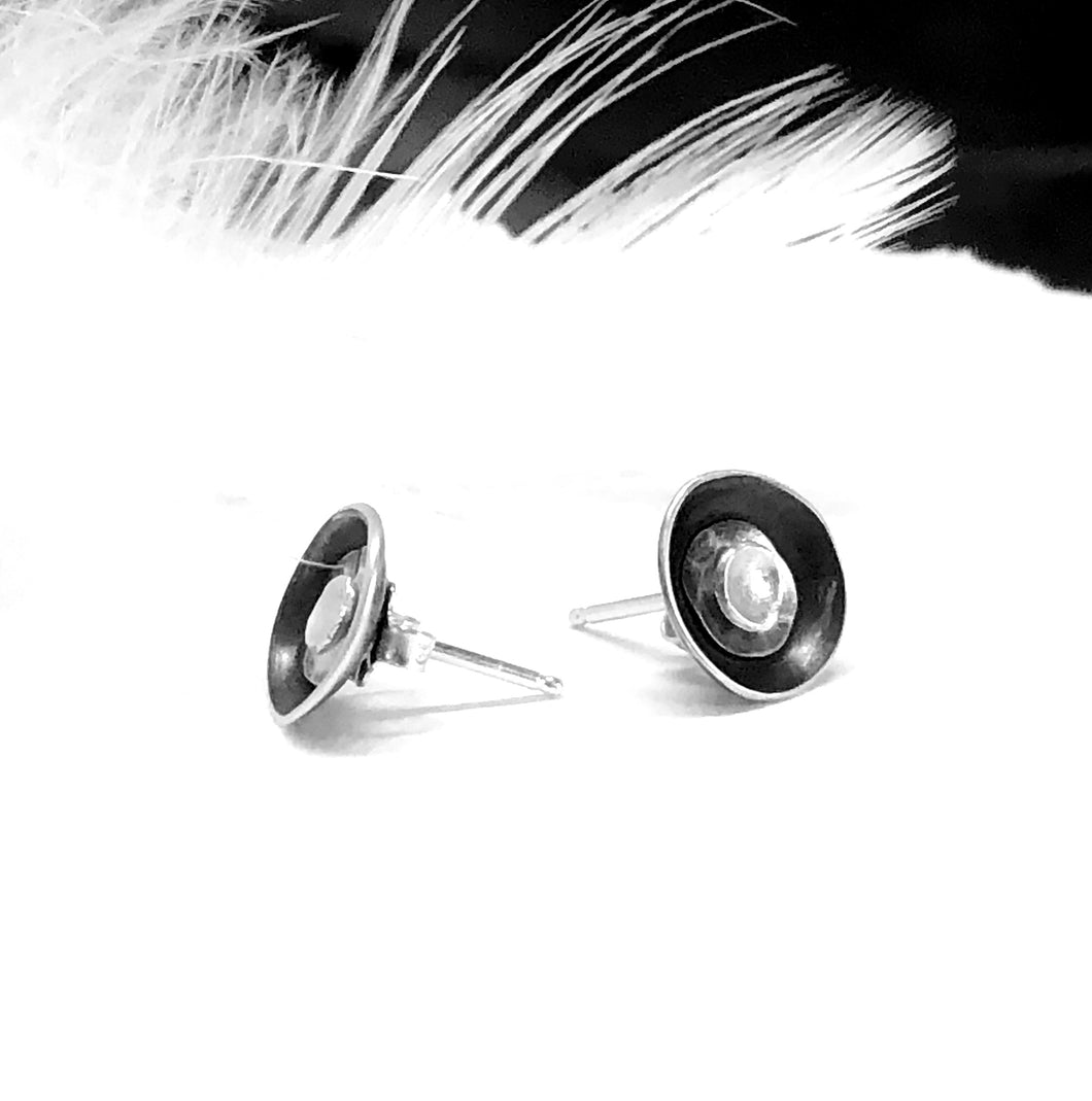 Contemporary Silver and Black Earring Jacket