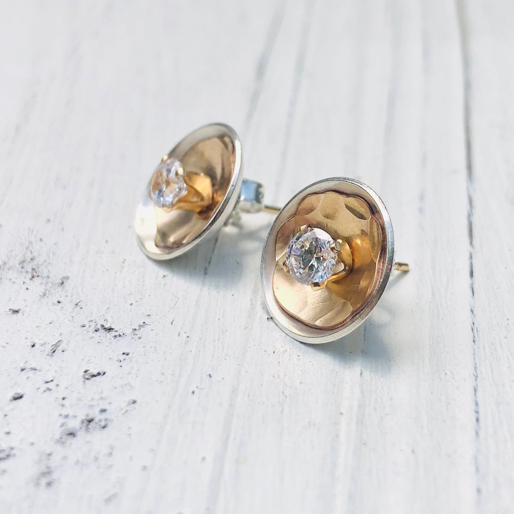 Contemporary Silver and Gold  Ear Jacket