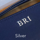Silver on Navy Blue