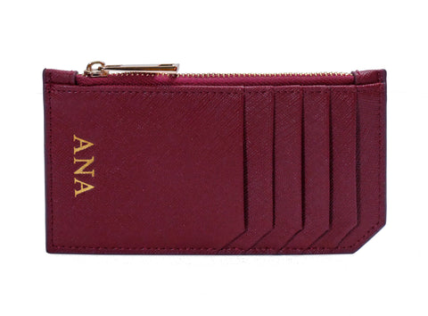 City Card Holder (Burgundy)
