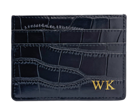 Tres Card Holder (Mock Croc)