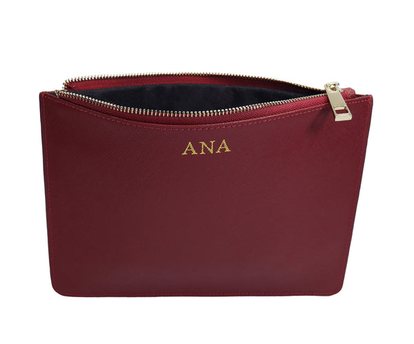 Signature Pouch - Burgundy