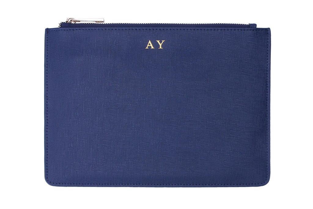 Signature Pouch - Navy Blue