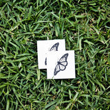 Common Tiger Butterfly Temporary Tattoo (Set of 2)