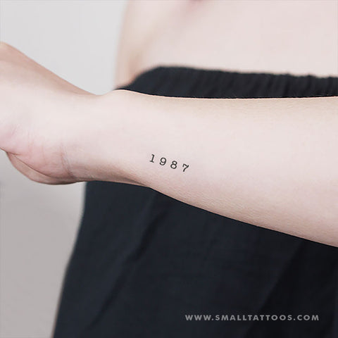 1987 Birth Year Temporary Tattoo (Set of 3)