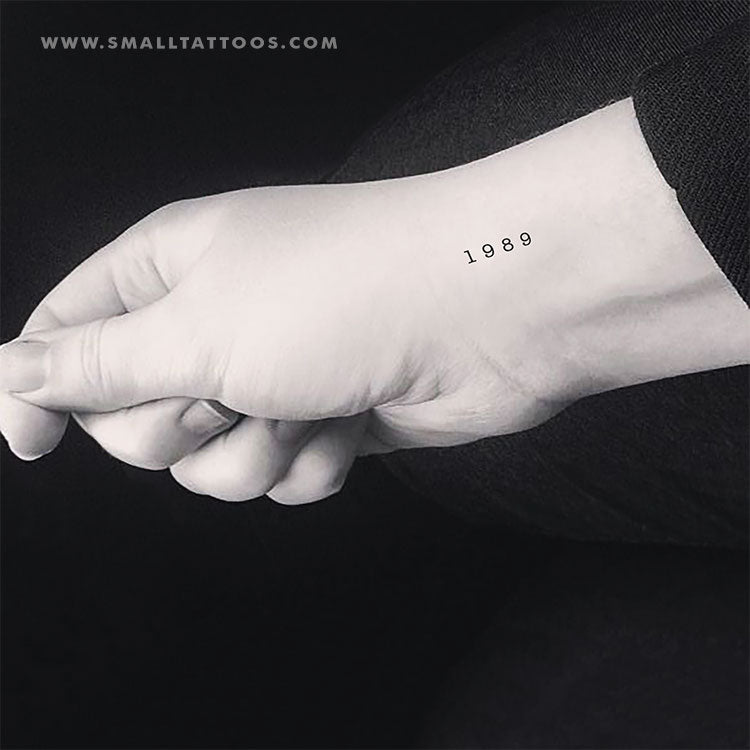 1989 Birth Year Temporary Tattoo (Set of 3)