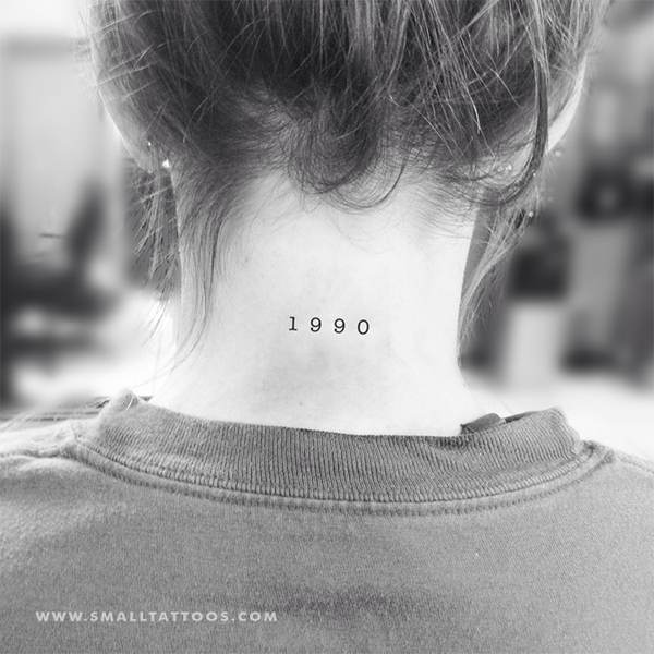 1990 Birth Year Temporary Tattoo (Set of 3)