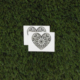 Mandala Heart Temporary Tattoo (Set of 2)