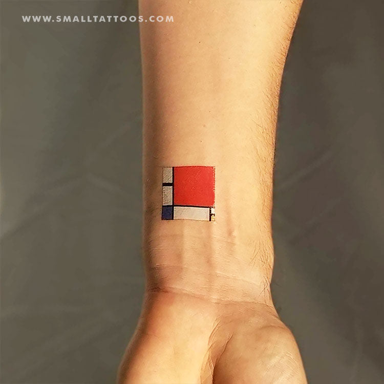 Mondrian's Composition II Temporary Tattoo (Set of 3)