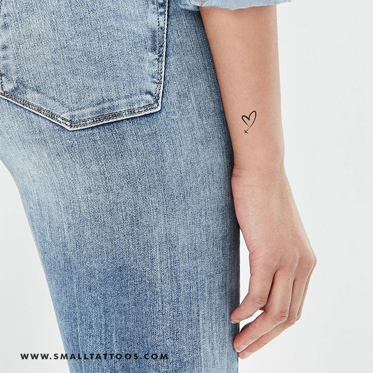 Heart In The Sky Temporary Tattoo (Set of 4)