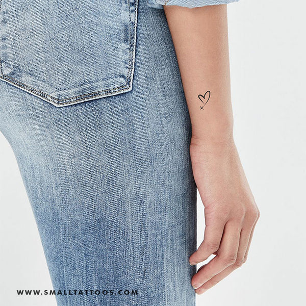 Heart In The Sky Temporary Tattoo (Set of 3)
