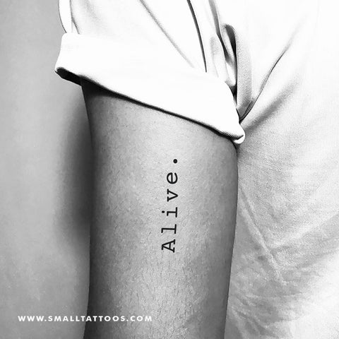 'Alive.' Temporary Tattoo (Set of 3)