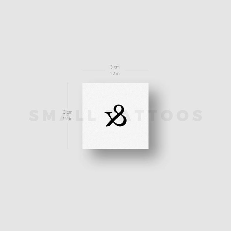 Ampersand Temporary Tattoo (Set of 3)