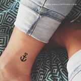 Anchor Temporary Tattoo (Set of 4)
