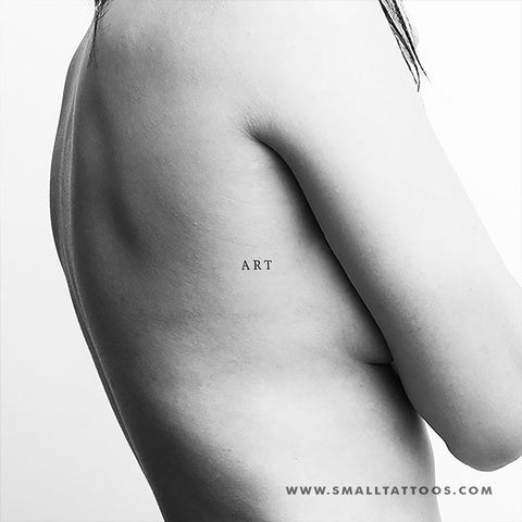'ART' Temporary Tattoo (Set of 3)