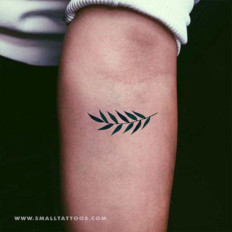 Ash Tree Leaves Temporary Tattoo by Zihee (Set of 2)
