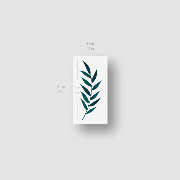 Ash Tree Leaves Temporary Tattoo by Zihee (Set of 3)