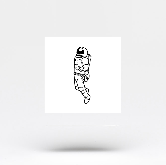 Astronaut Temporary Tattoo (Set of 3)