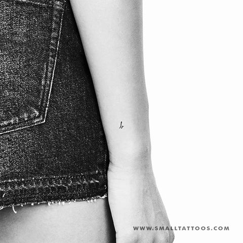 B Handwritten Letter Temporary Tattoo (Set of 3)