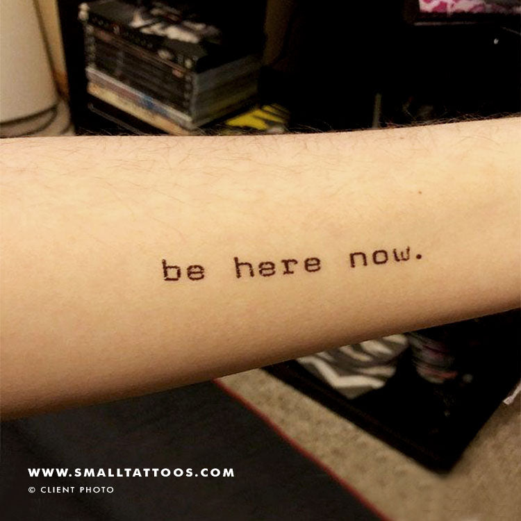 Be Here Now Temporary Tattoo (Set of 3)