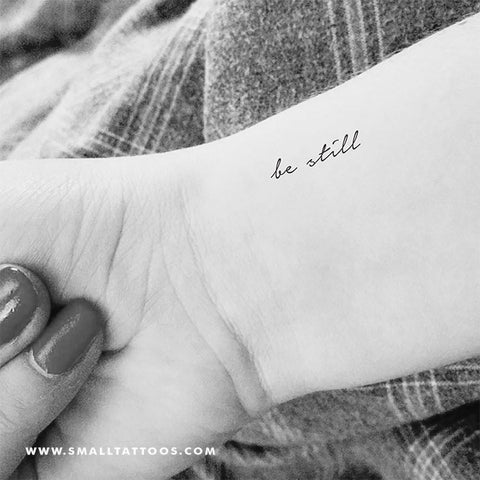Be Still Temporary Tattoo (Set of 3)